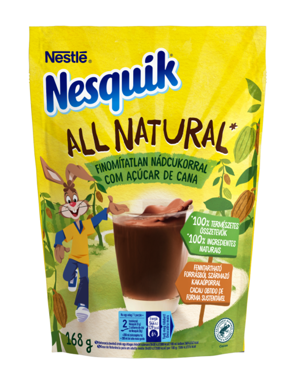 Nesquik All Natural nádcukros kakaó italpor
